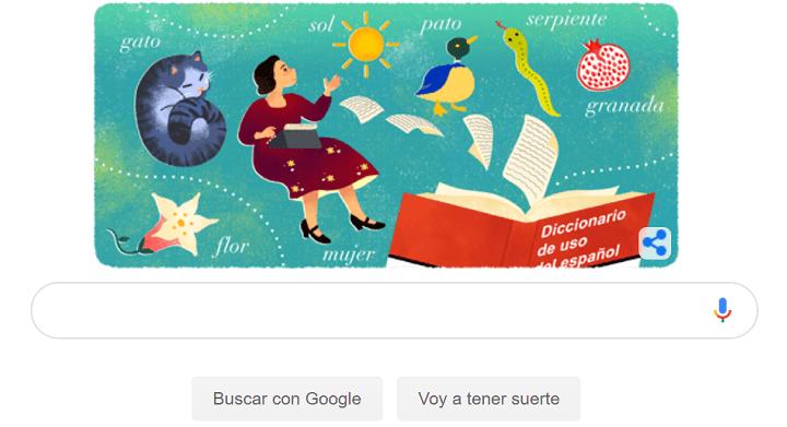 """Imagen - Google dedica un Doodle a María Moliner, creadora del """"Diccionario de uso del español"""""""