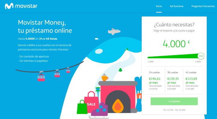 Imagen - Movistar Money: préstamos de hasta 4.000 euros solo para clientes