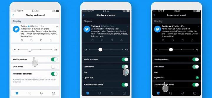 Imagen - Twitter lanza un modo oscuro automático y para pantallas OLED en iOS