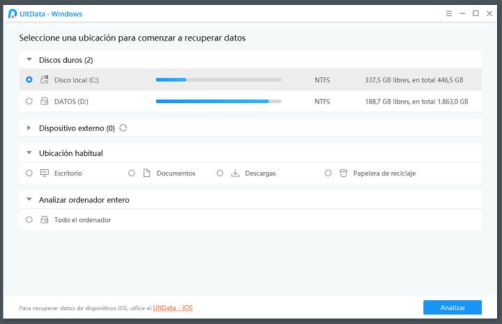 Imagen - UltData-Windows Data Recovery, recupera archivos borrados del ordenador