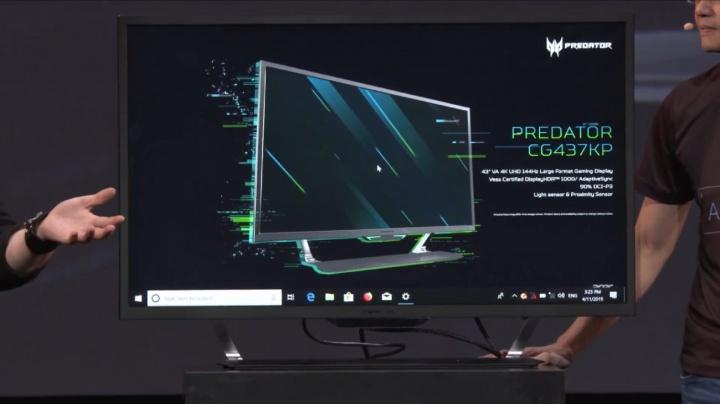 Imagen - Acer Predator CG437K P, el monitor gaming de 43 pulgadas con 4K, HDR y 144 Hz