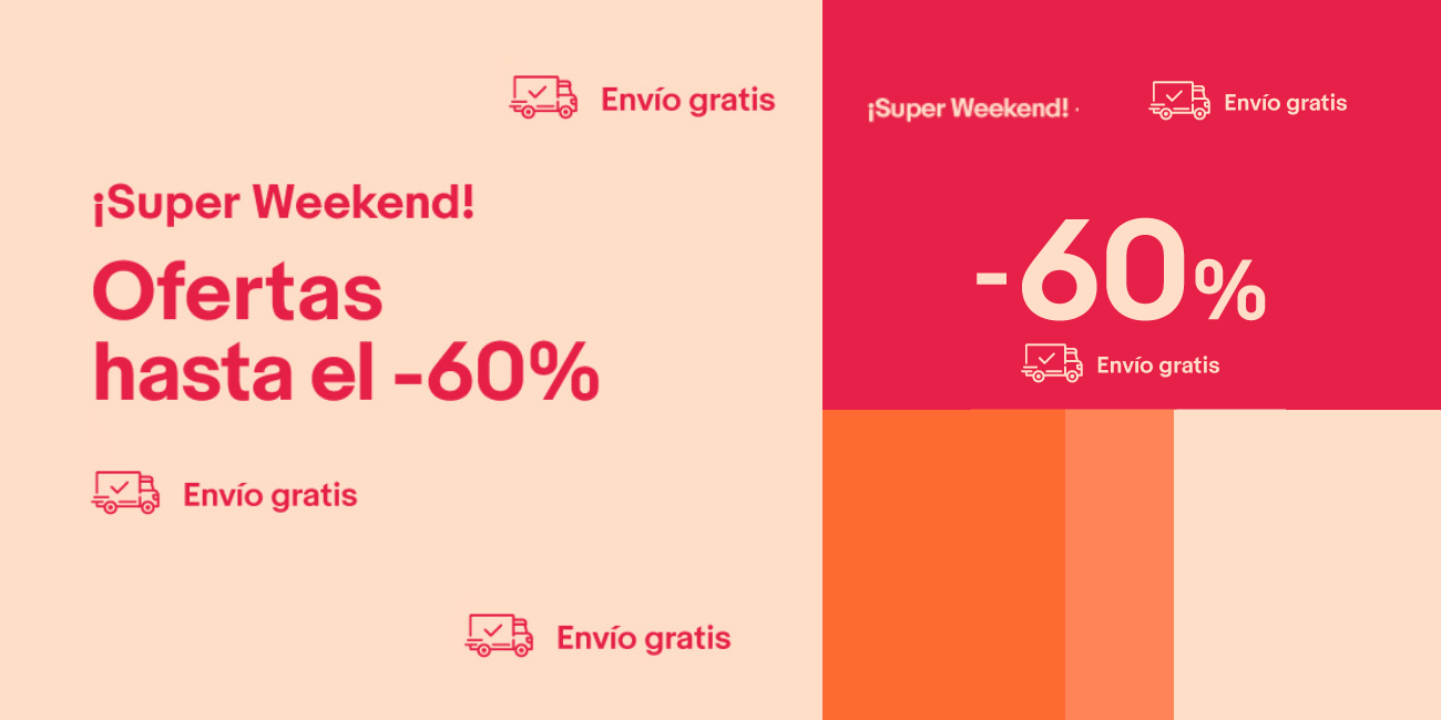 Super Weekend de eBay hasta el 29 de abril: ofertas de hasta el 60% y envíos gratis