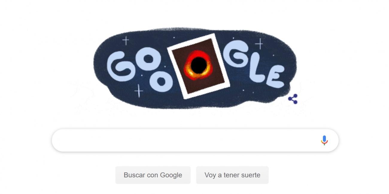 Google dedica un Doodle a la primera imagen de un agujero negro