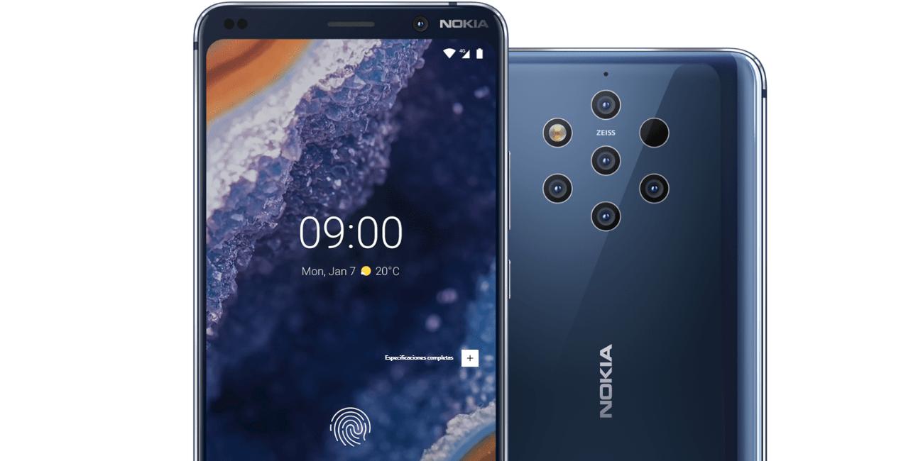Nokia 9 PureView llega a España: precio y disponibilidad del smartphone con 5 cámaras
