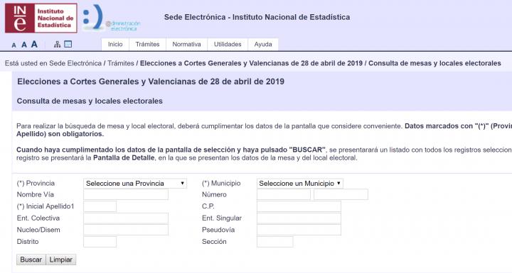 Imagen - Cómo consultar online tu colegio y mesa electoral para las elecciones del 28-A