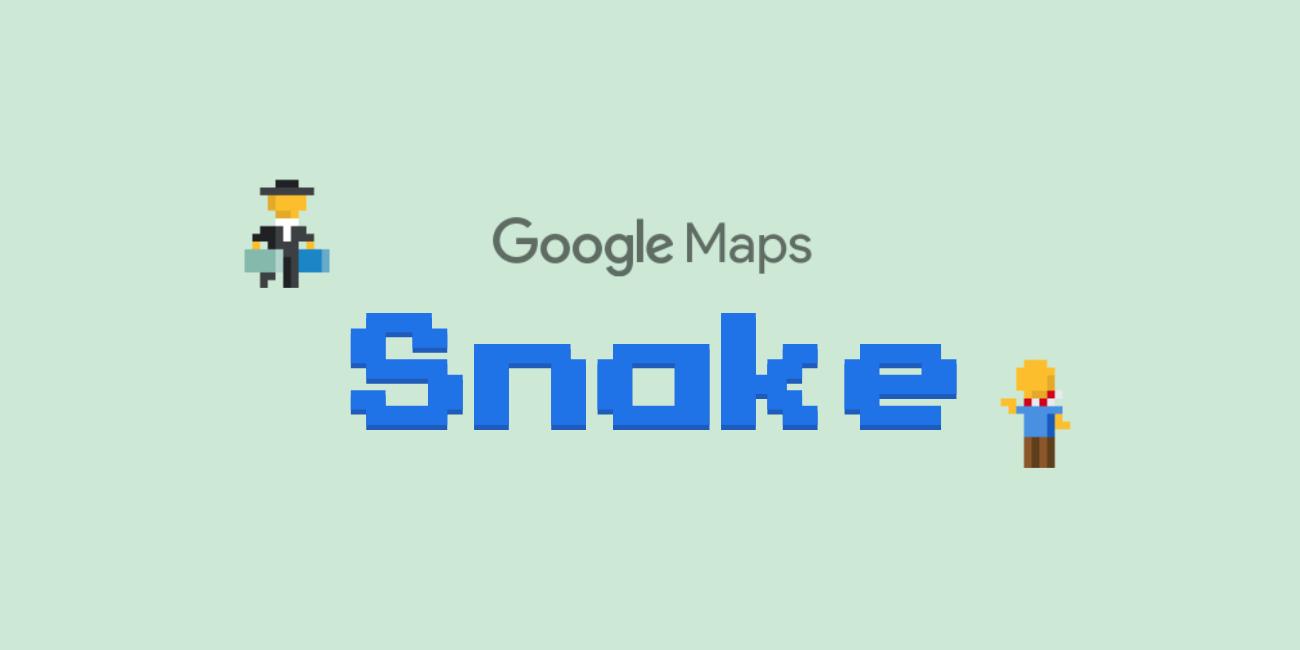 """Google Maps añade Snake, el mítico """"juego de la serpiente"""", por el April Fools"""