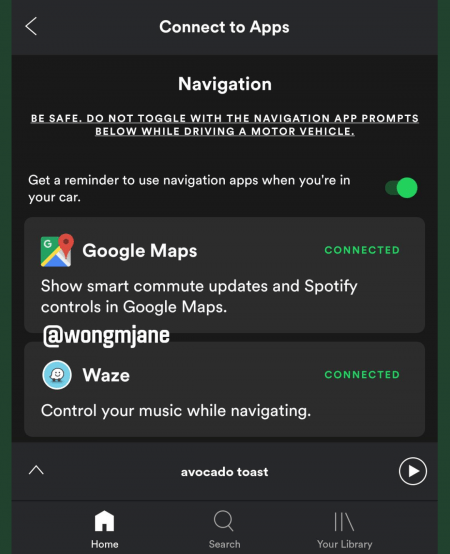 ▷ Spotify deals with a timer to stop the music when we go