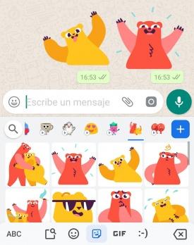 Imagen - WhatsApp ya permite usar stickers del teclado Gboard de Google