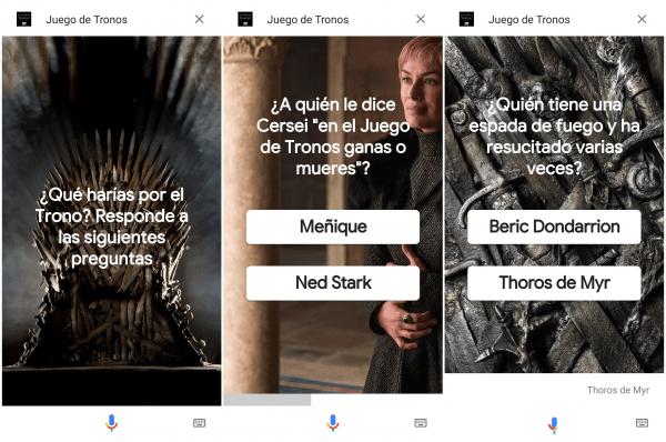 Imagen - El Asistente de Google añade un test sobre Juego de Tronos