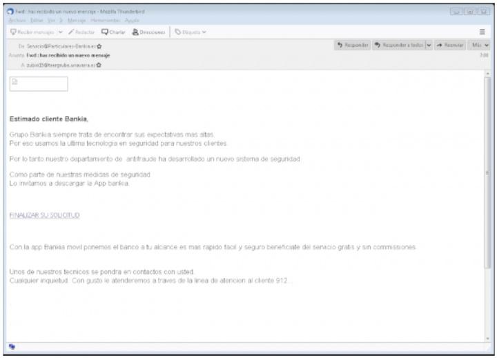Imagen - Cuidado con el email de Bankia que anuncia un nuevo sistema de seguridad