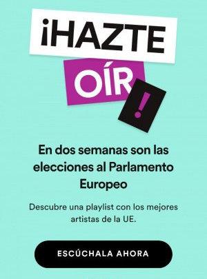 Imagen - ¡Hazte oír! La nueva playlist de Spotify por las elecciones europeas