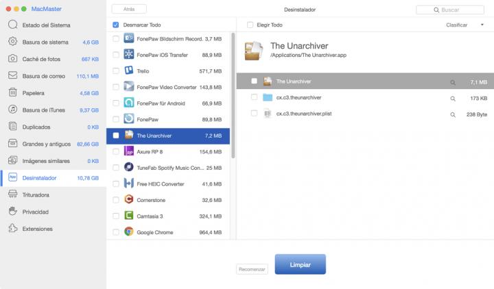 Imagen - MacMaster, el limpiador de Mac que optimiza el sistema y elimina los archivos innecesarios