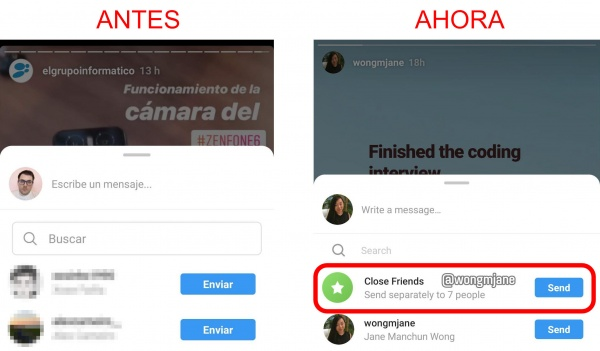Imagen - Instagram permitirá compartir posts y Stories con todos los mejores amigos a la vez
