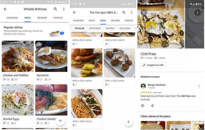 Imagen - Google Maps mostrará imágenes de los platos más populares de cualquier restaurante