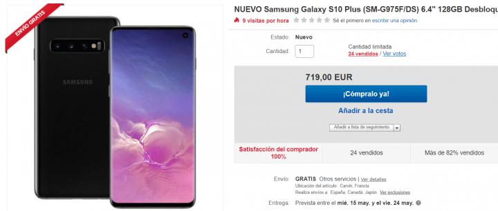 Imagen - Oferta: Samsung Galaxy S10 Plus por solo 719 euros en eBay