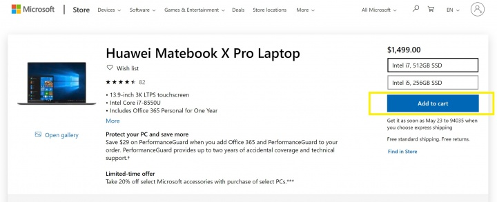 Imagen - Microsoft retira el Huawei MateBook X Pro de su tienda