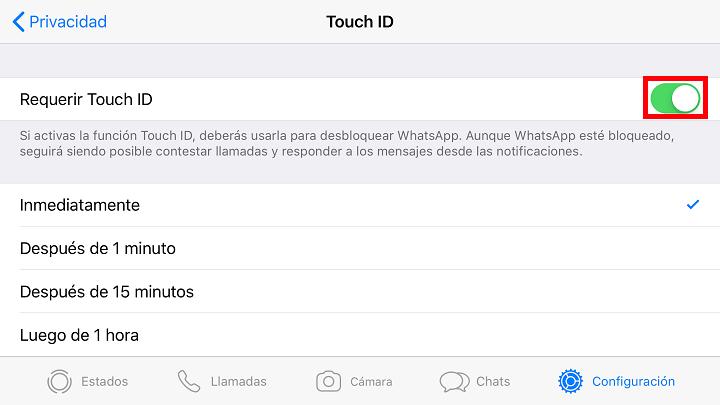 Imagen - Cómo bloquear WhatsApp con huella dactilar