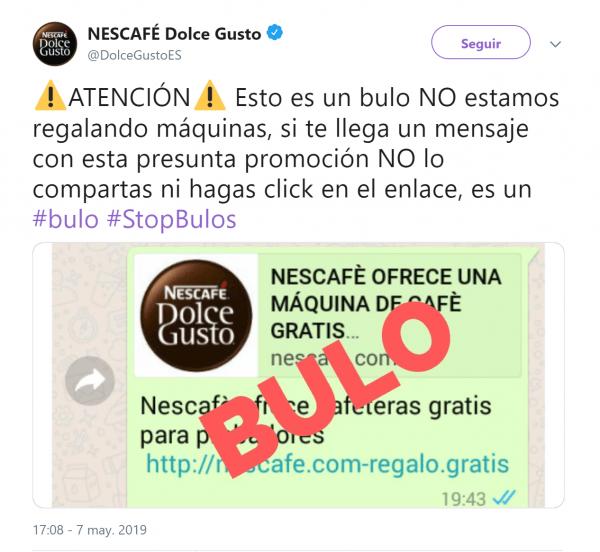 """Imagen - """"Nescafé ofrece cafeteras gratis para probadores"""", la nueva estafa en WhatsApp"""
