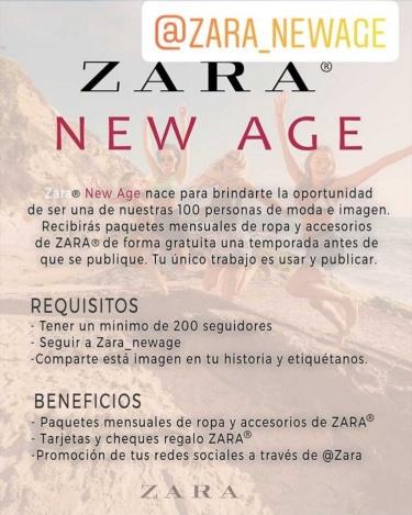 Imagen - Cuidado con Zara New Age, el perfil en Instagram que promete ropa gratis a influencers