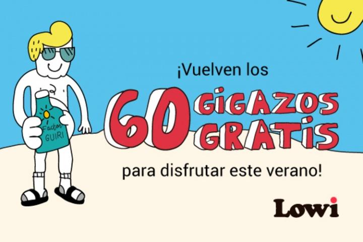 Imagen - Lowi regala 60 gigas a todos sus clientes en su promoción de verano