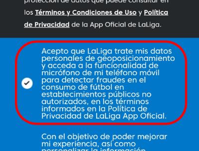 Imagen - Multa a LaLiga por usar el micrófono de los móviles para detectar fútbol pirata sin avisar