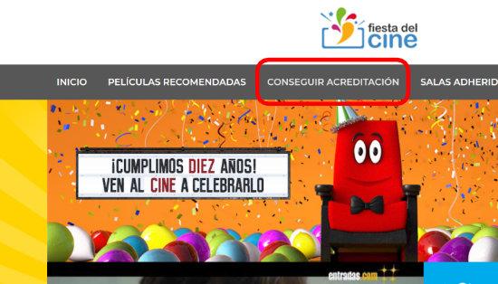 Imagen - Cómo conseguir tu acreditación de la Fiesta del Cine