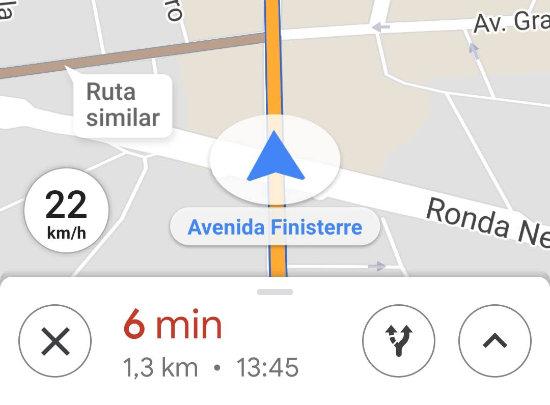 Imagen - Google Maps ya muestra la velocidad a la que vas en tiempo real