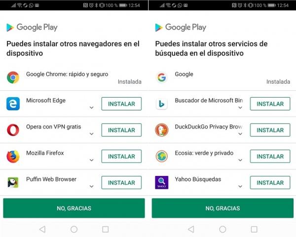 Imagen - ¿Por qué Google Play me ofrece instalar navegadores y buscadores alternativos?