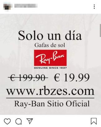 Imagen - Cómo eliminar la publicidad de gafas Ray-Ban de tu Instagram