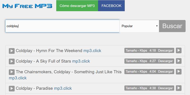 Imagen - My free mp3, una web para buscar y descargar mp3