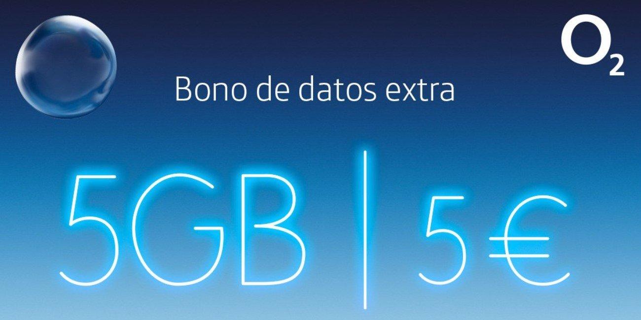 O2 lanza bonos de datos extra de 5 GB