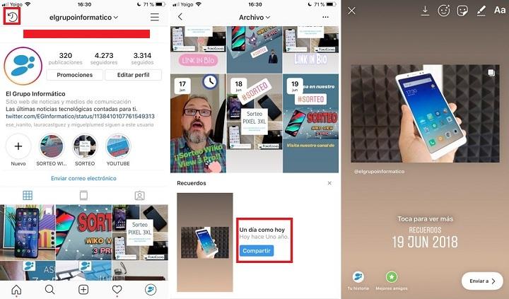 Imagen - Instagram ahora te muestra tus recuerdos