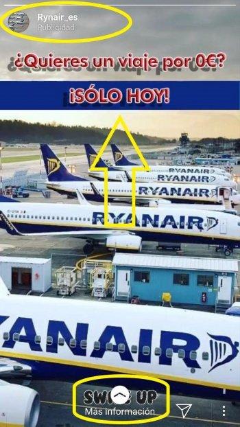 Imagen - Cuidado con el viaje que regala Ryanair en Instagram