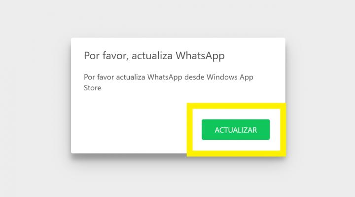 Imagen - WhatsApp para Windows 10 deja de funcionar: pide una actualización inexistente