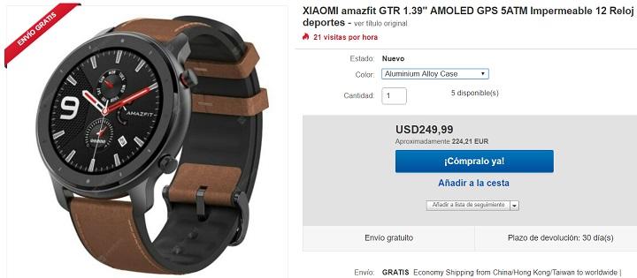 Imagen - Dónde comprar el Amazfit GTR
