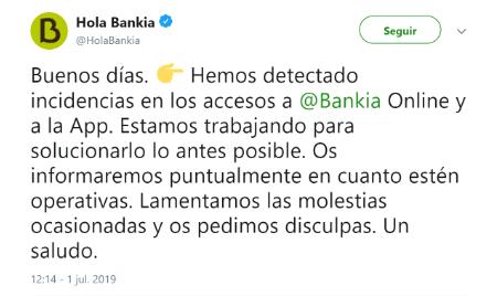 Imagen - La web de Bankia no funciona para muchos usuarios