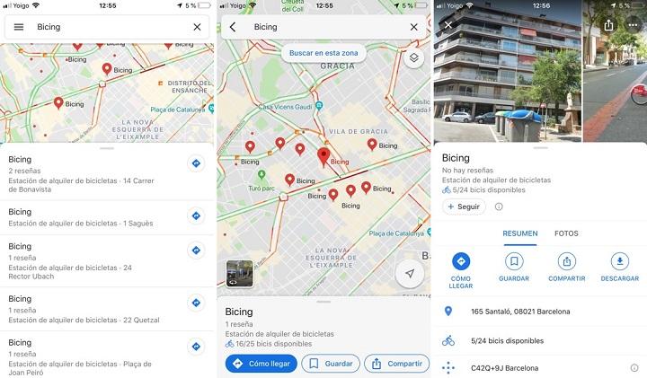 Imagen - Google Maps añade información de las estaciones de bicis