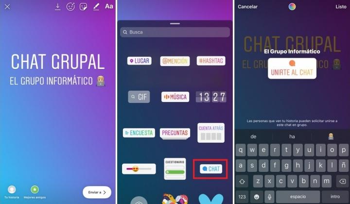 Imagen - Instagram Stories añade el sticker Chat para iniciar una conversación grupal