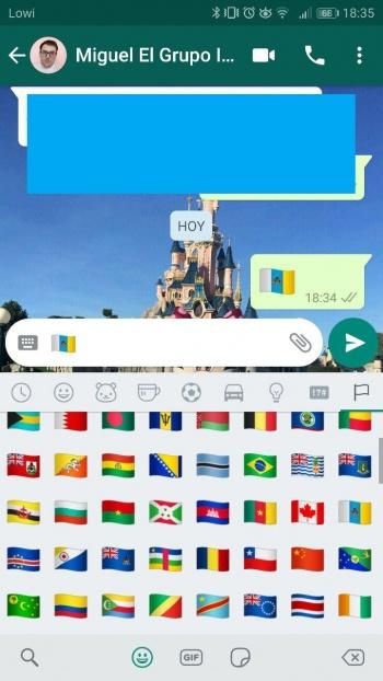 Imagen - ¿Por qué la bandera de Canarias tiene un emoji en WhatsApp?