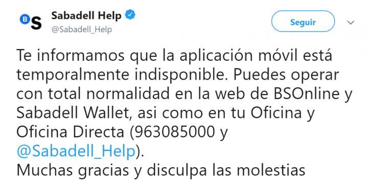Imagen - Las apps de Bankia y Sabadell no funcionan
