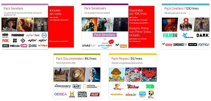 Imagen - Vodafone incluye gratis Seriefans en las tarifas convergentes ilimitadas