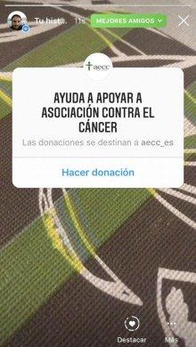 """Imagen - El sticker de """"Donación"""" llega oficialmente a Instagram"""