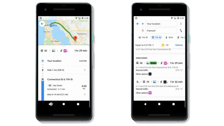 Imagen - Google Maps mostrará rutas combinando transporte público, bicicletas y ridesharing