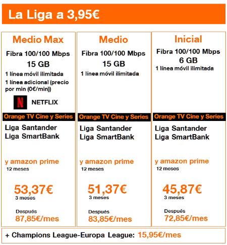 Imagen - Orange incluirá gratis el fútbol de 2019/2020 en las tarifas Love