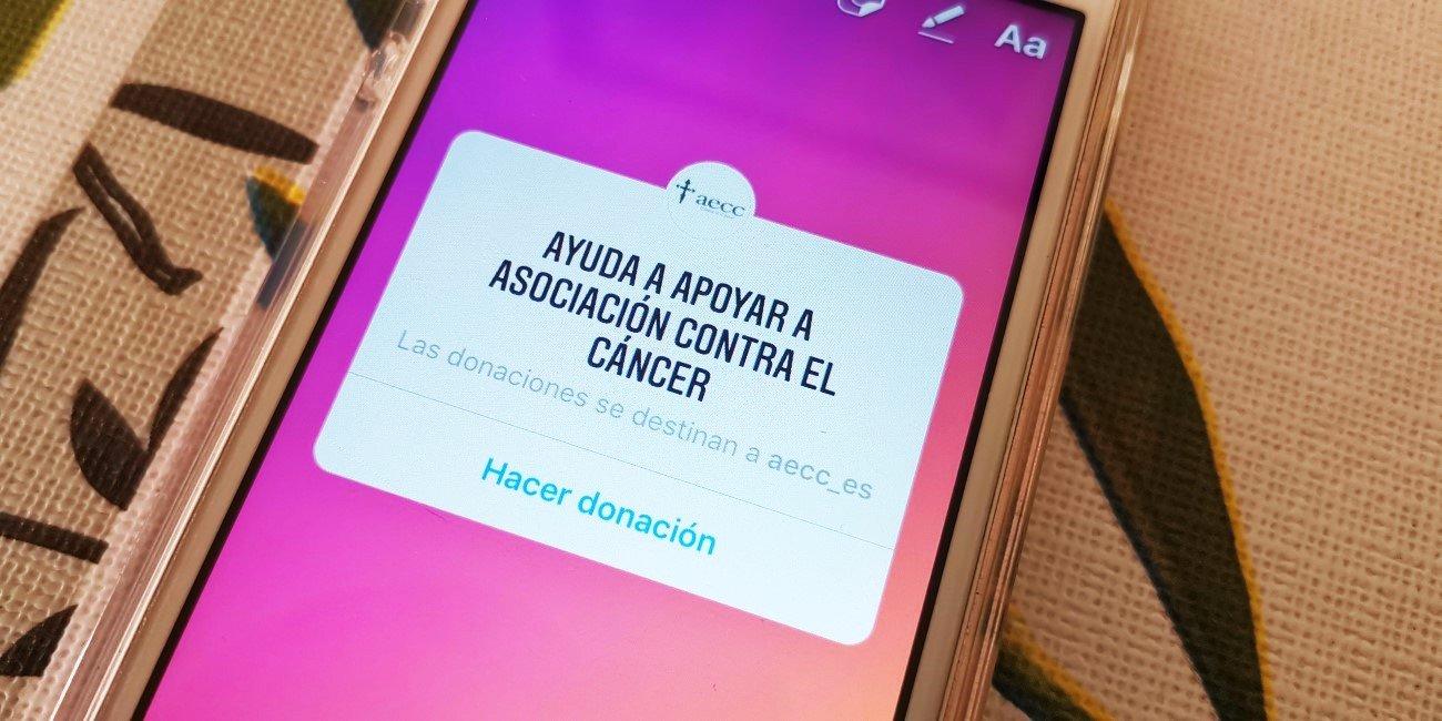 """El sticker de """"Donación"""" llega oficialmente a Instagram"""