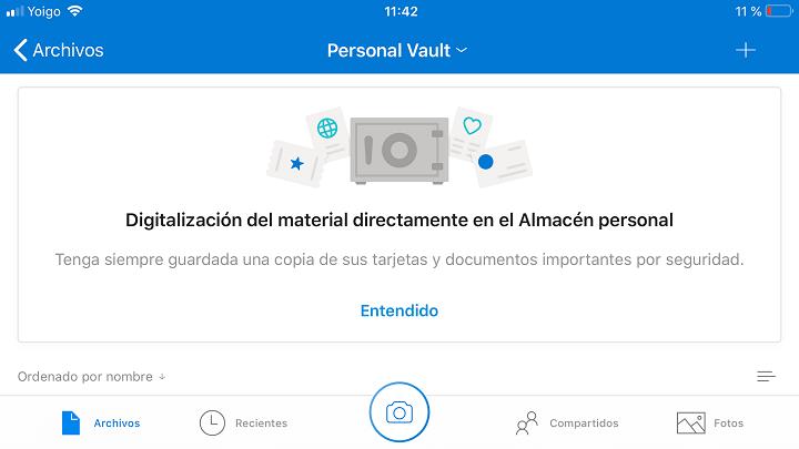 """Imagen - OneDrive lanza el """"Almacén personal"""" para guardar tus archivos confidenciales"""