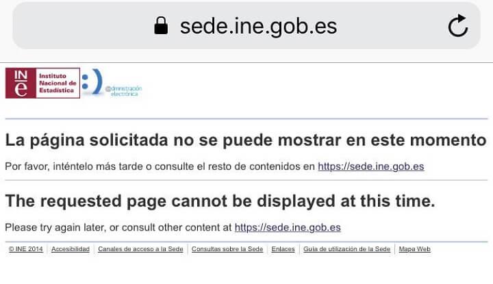 Imagen - La web del INE se cae y no permite a los usuarios darse de baja de la propaganda electoral
