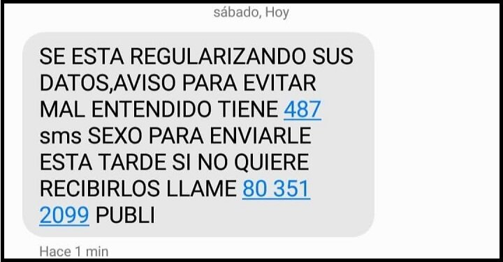 Imagen - Cuidado con los SMS que piden llamar al 803512099 para darse de baja