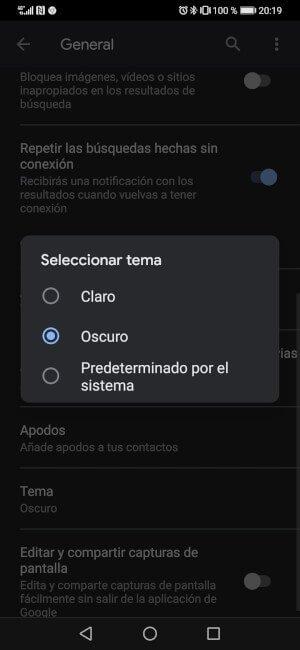 Imagen - Google activa el modo oscuro en Google Assistant