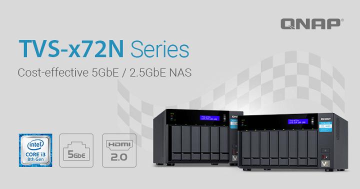 Imagen - TVS-x72N, los nuevos NAS de Qnap con Intel Core i3, HDMI 2.0 y puerto 5GBASE-T